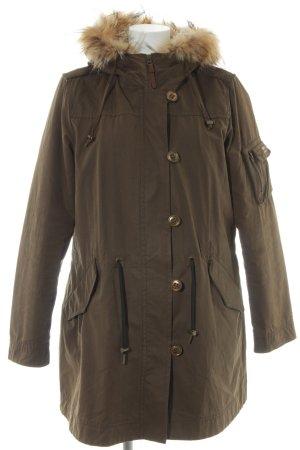 Cinque Cappotto con cappuccio marrone-grigio-crema stile boyfriend