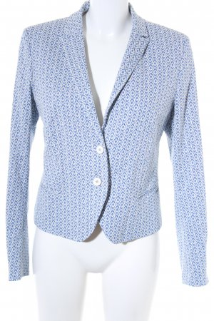 Cinque Kurz-Blazer weiß-blau abstraktes Muster Casual-Look