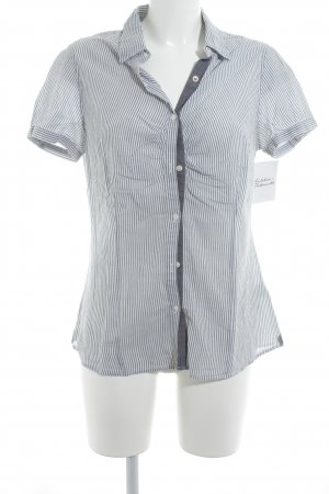 Cinque Short Sleeve Shirt white-blue striped pattern casual look