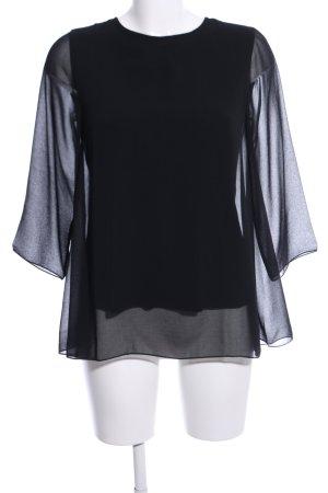 Cinque Langarm-Bluse schwarz Elegant
