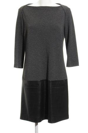 Cinque Vestido de manga larga gris oscuro diseño de espiga look casual