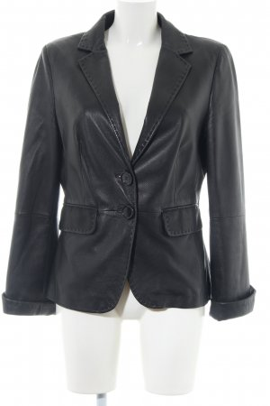 Cinque Leather Blazer black casual look