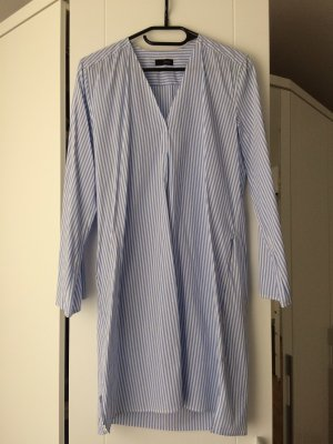 Cinque Blusa larga blanco-azul celeste
