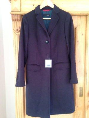 Cinque Manteau en laine bleu foncé