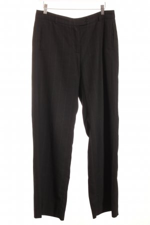 Cinque Marlene Trousers black-steel blue pinstripe business style