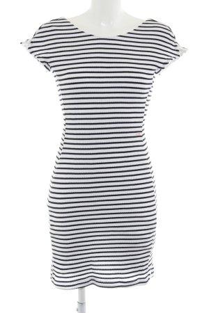 Cinque Minikleid weiß-dunkelblau Streifenmuster Casual-Look