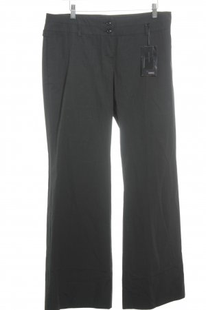 Cinque Palazzo Pants black-grey striped pattern business style