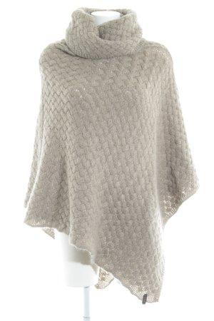 Cinque Poncho beige weave pattern fluffy