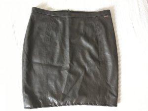 Cinque Falda de cuero de imitación gris antracita Imitación de cuero