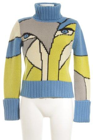 Cinque Rollkragenpullover abstraktes Muster Street-Fashion-Look