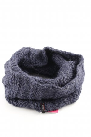 Cinque Snood blue cable stitch casual look