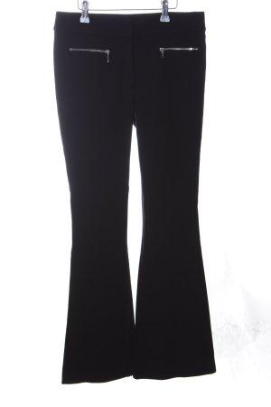 Cinque Broek met wijd uitlopende pijpen zwart elegant