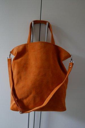 Cinque Bolsa de hombro naranja Gamuza
