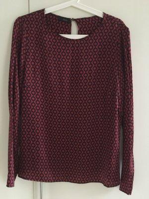 Cinque Zijden blouse zwart-karmijn