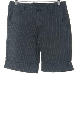 Cinque Shorts blu scuro-bianco gessato