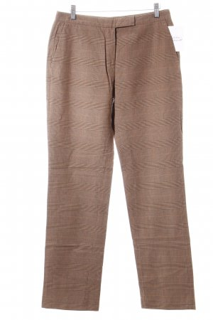 Cinque Pantalone jersey marrone chiaro-marrone motivo a quadri stile classico