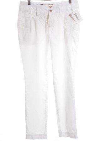Cinque Pantalone jersey bianco stile spiaggia