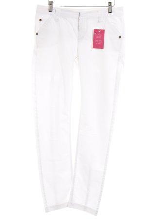 Cinque Pantalone jersey bianco stile casual