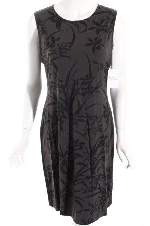 Cinque Stretchkleid dunkelgrau-grau florales Muster Street-Fashion-Look