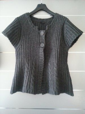 Cinque Short Sleeve Knitted Jacket grey