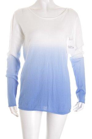 Cinque Strickpullover weiß-himmelblau Farbverlauf klassischer Stil
