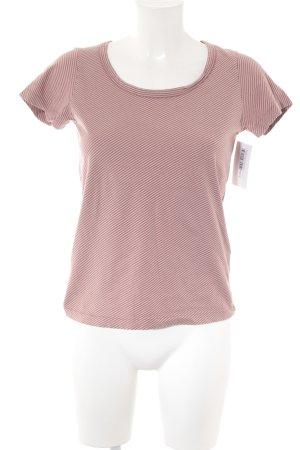 Cinque T-Shirt creme-karminrot Streifenmuster Casual-Look