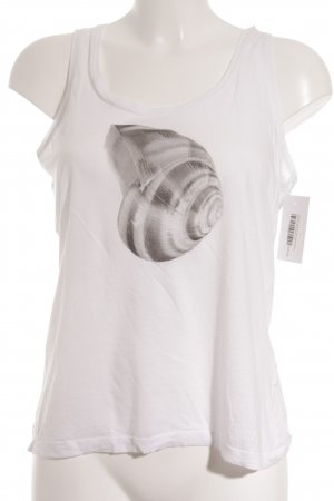 Cinque Tanktop weiß-silberfarben Motivdruck Casual-Look