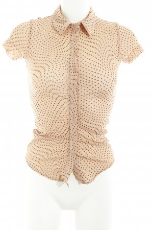 Cinque Transparenz-Bluse apricot-schwarz Punktemuster Casual-Look