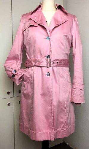 * CINQUE *  TRENCH COAT SOMMER MANTEL Rosa pink geknöpft  Gürtel Gr 38 M