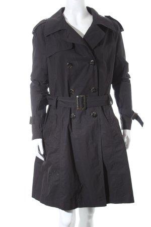 Cinque Trenchcoat schwarz klassischer Stil