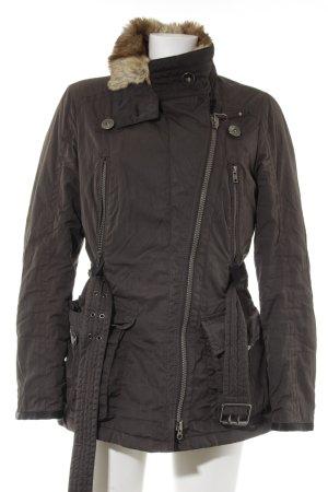 Cinque Between-Seasons Jacket dark brown-light brown casual look