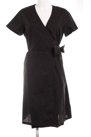Cinque Robe portefeuille noir élégant