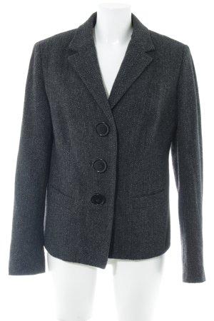 Cinque Blazer in lana grigio scuro-grigio chiaro puntinato stile professionale