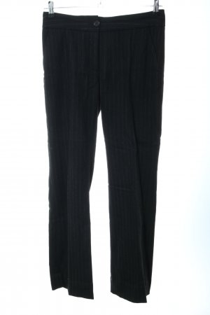 Cinque Woolen Trousers black striped pattern business style