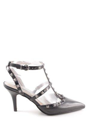 Cinti Spitz-Pumps schwarz-silberfarben Elegant