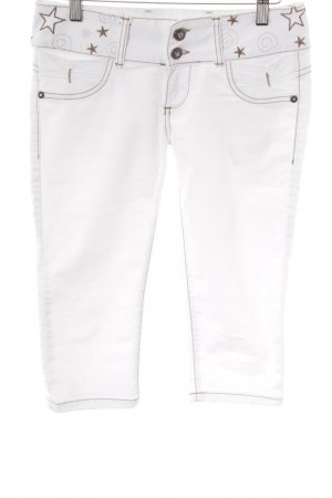 Cipo & Baxx 3/4 Jeans weiß-bronzefarben Sternenmuster Street-Fashion-Look