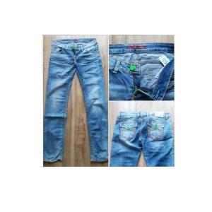 Cipo & Baxx Straight Leg Jeans light blue