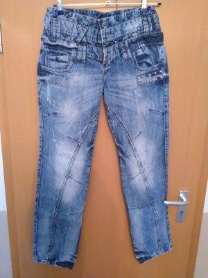 Cipo & Baxx Straight Leg Jeans blue