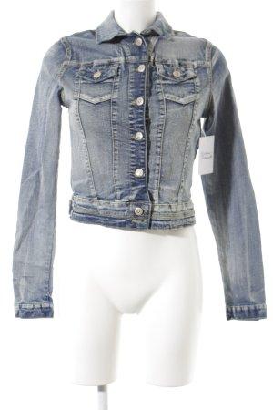 Cipo & Baxx Jeansjacke blau Washed-Optik