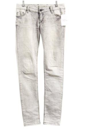 Cipo & Baxx Skinny Jeans hellgrau-grau Used-Optik