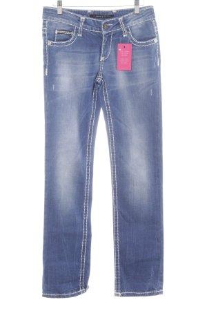 Cipo & Baxx Slim Jeans blau Casual-Look