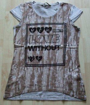 CIPO & BAXX T-Shirt hellbraun Strass Gr. M