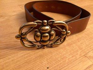 Circa Cintura di pelle marrone-oro