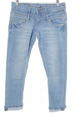 Circle of Trust Tube Jeans cornflower blue distressed style