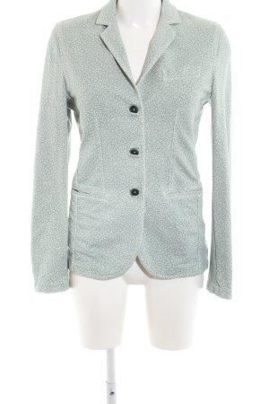 Circolo Long Blazer turquoise-white allover print casual look