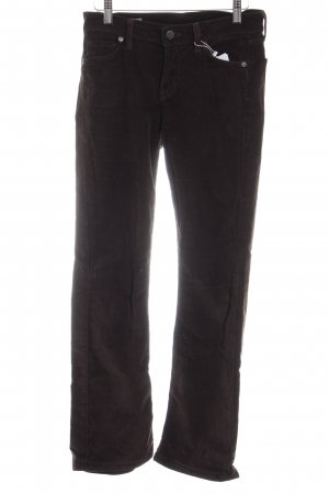 Citizens of Humanity Pantalon en velours côtelé brun noir style décontracté