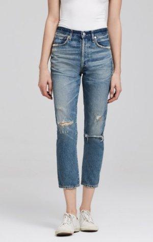 Citizens of Humanity Dree Crop High Rise Slim Straight Jeans blau 25 - wie NEU