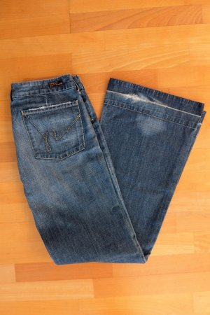 Citizens of Humanity Jeans Schlaghose used Look Destroyed Gr. 31 dunkelblau