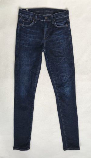 Citizens of Humanity Hoge taille jeans staalblauw Katoen