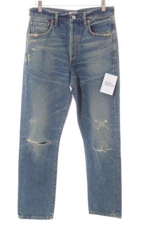 Citizens of Humanity Röhrenjeans blau-graugrün Jeans-Optik